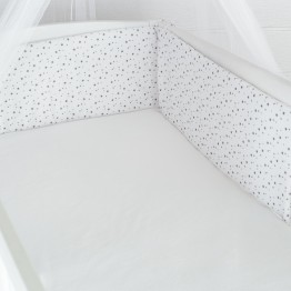 "Cot Bumper ""My little Stars"" for high base"