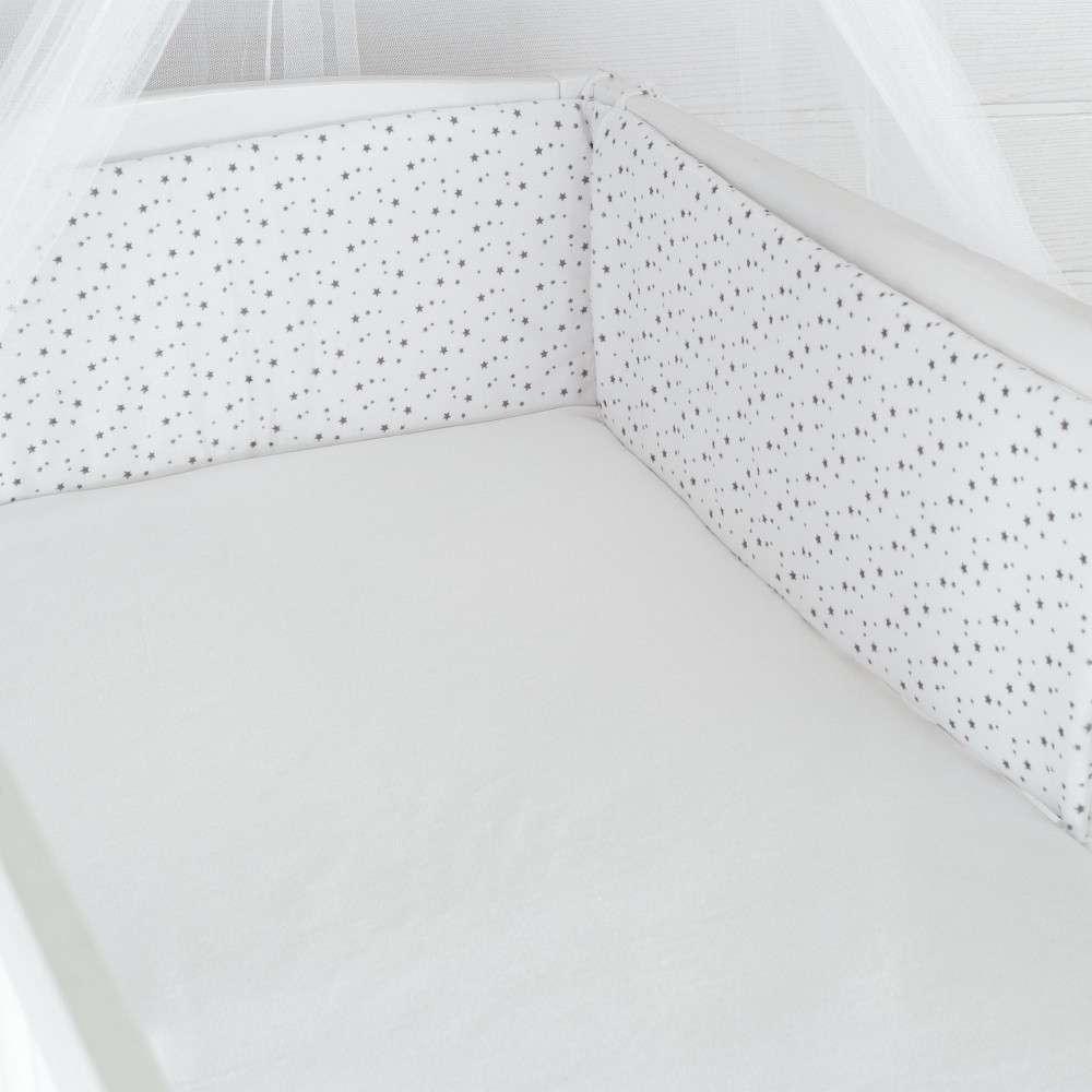 soldes tour de lit b b position haute gris et blanc all over toiles kinousses. Black Bedroom Furniture Sets. Home Design Ideas