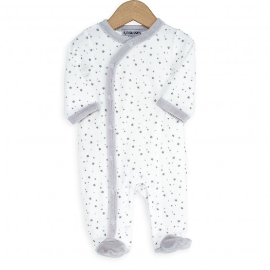 "Pyjama naissance ""blanc étoilé"""