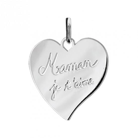"Engraved Heart Pendant ""Mum I love You"""