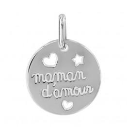 """Ciondolo d'argento"""" MAMMA D'AMORE"""""""