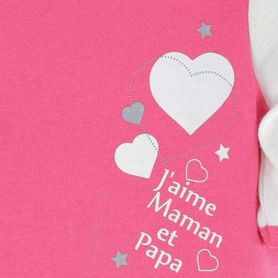 """Pyjama bébé fille coton """"J'aime Maman & Papa"""""""