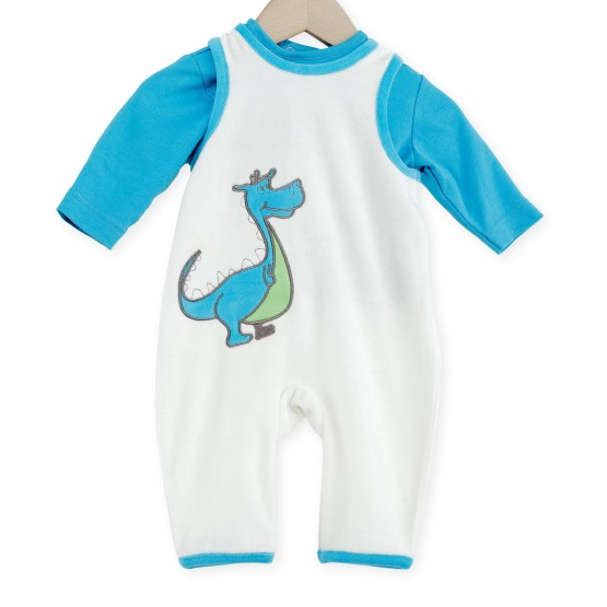 "Dungarees ""Cute Dragon"" - 3 Pieces Set"