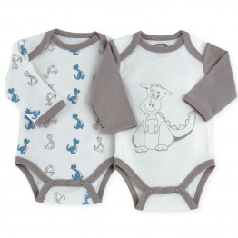 Lot de 2 bodies bébé Dragon Mignon