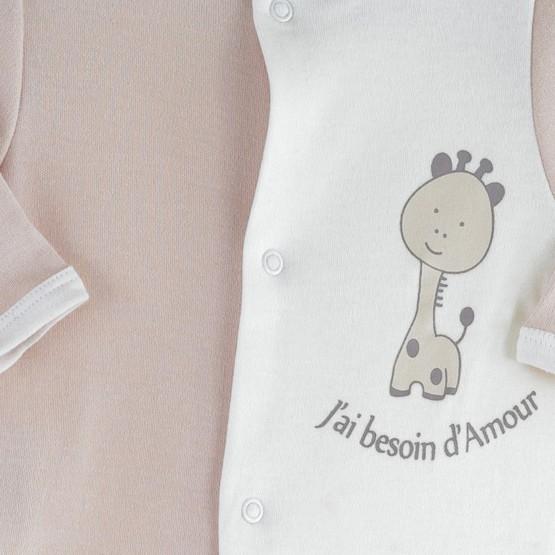 "Pyjama naissance coton ""Girafe"""