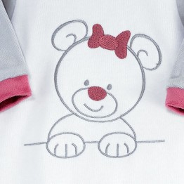 "Baby girl sleepsuit ""My Teddy Bear"""