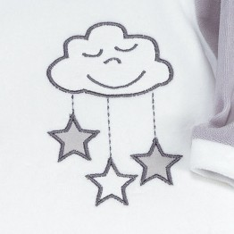 """Baby Sleepsuit """"Head in the clouds"""""""