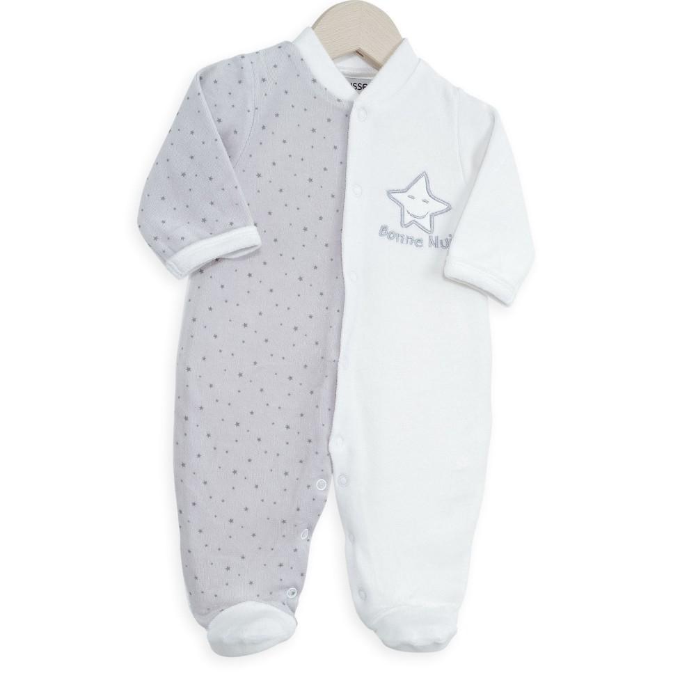 Dors bien naissance pas cher blanc et gris en velours kinousses kinousses - Temperature chambre bebe nuit ...