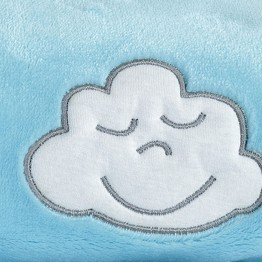 "YOUR GIFT : Fleece baby blanket ""Cloud"" 75*100 cms"