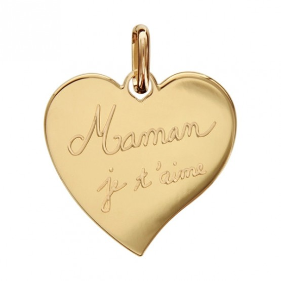 """Engraved Heart Pendant in silver """"Mum we love you"""""""