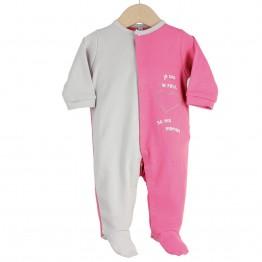"""Pyjama bébé été """" Je suis le petit coeur de ma maman"""""""