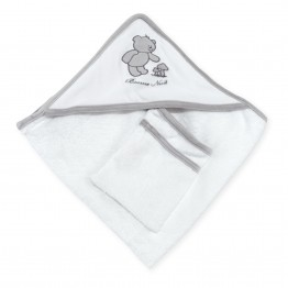 "Bath set 70 x 70cm + washcloth ""Bonne Nuit"""