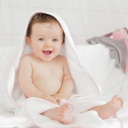 Sortie de bain fille Couronne