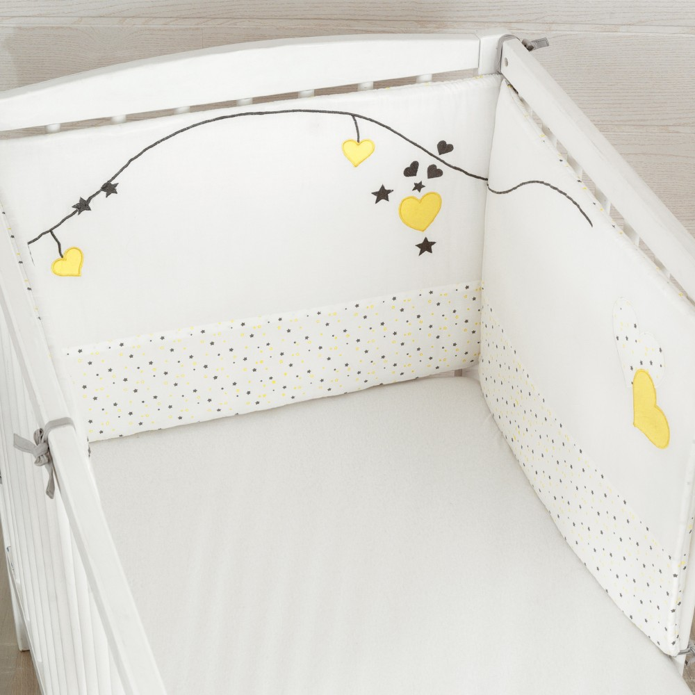 tour de lit b b fille r versible en 100 coton kinousses. Black Bedroom Furniture Sets. Home Design Ideas