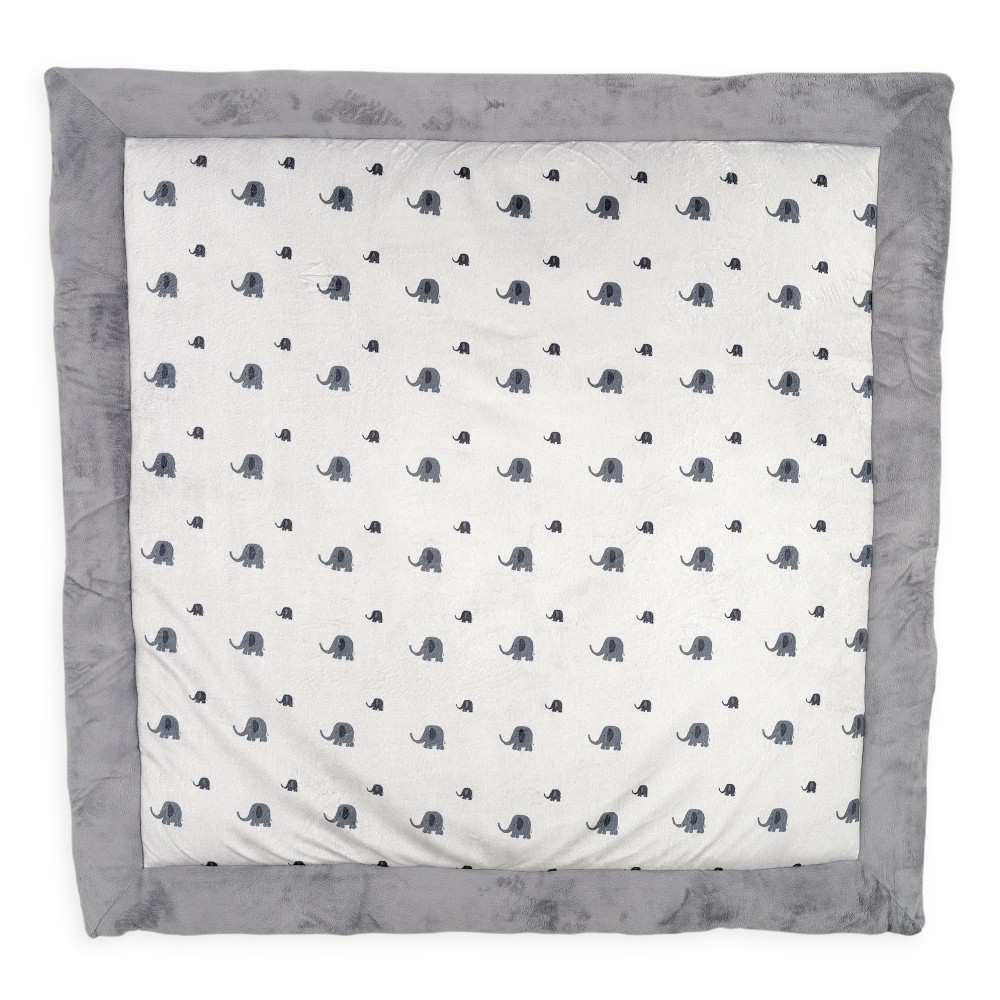 tapis de parc b b gris avec motif l phant 100 x 100 cm. Black Bedroom Furniture Sets. Home Design Ideas
