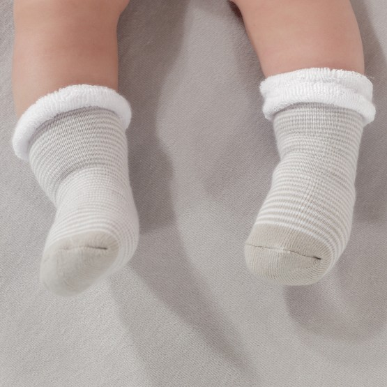 Pack of 3 pairs baby unisex booties