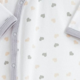 "Pyjama naissance fille ""Nuée de cœurs"""