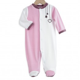 "Baby girl pyjamas ""Tendres broderies"""