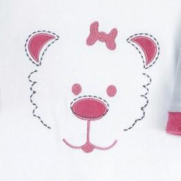 Pyjama bébé fille - Visage d'ourson