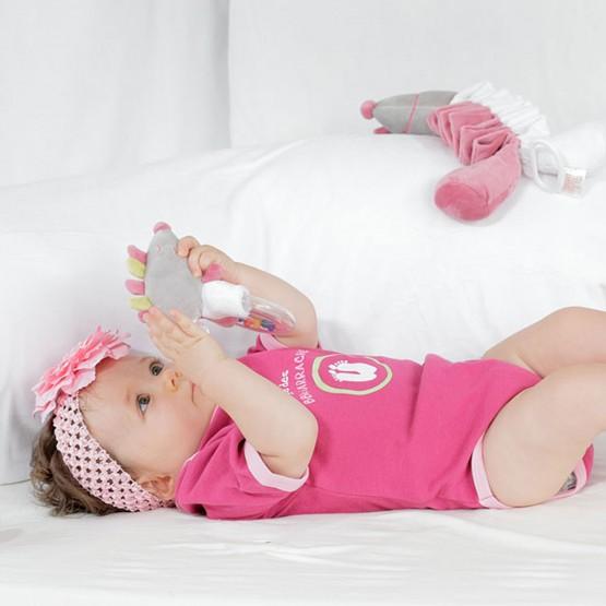 """Set of 2 summer bodysuits for baby girl """"little devil"""""""