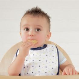 BIB'UP, il nuovo bavaglino con colletto silicone prima età (confezione da 2)