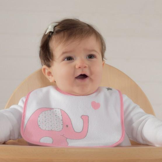 Lot de 2 bavoirs bébé - BIB'UP 22x30cm avec col en silicone