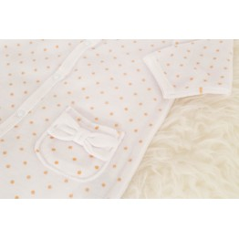 Baby girl birth pyjamas with golden dots