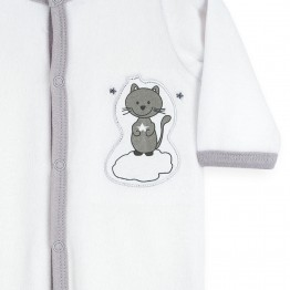"Birth pyjamas in velvet ""Miaouh"""