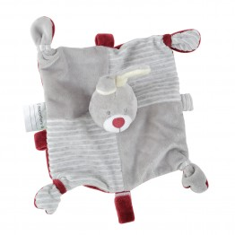 Cuddly toy with chain for pacifier