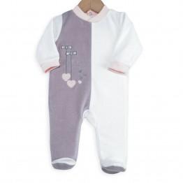 Baby girl pyjamas - Small knots