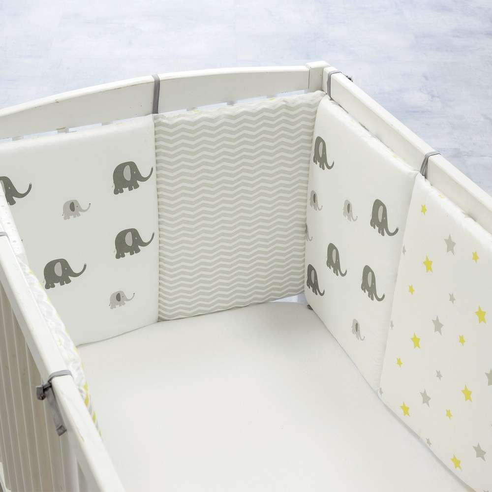 Baby bed bumper 100% cotton ZigZag & Barnabé