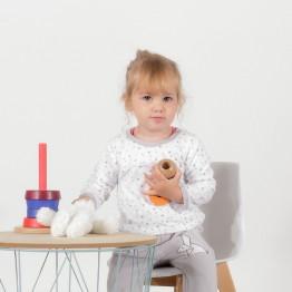 Pyjama bébé 2 pièces - COCOLAPIN blanc/gris