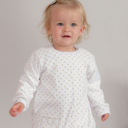 Baby girl pyjamas – Golden dots