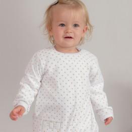 Pyjama bébé fille  - Petits pois dorés