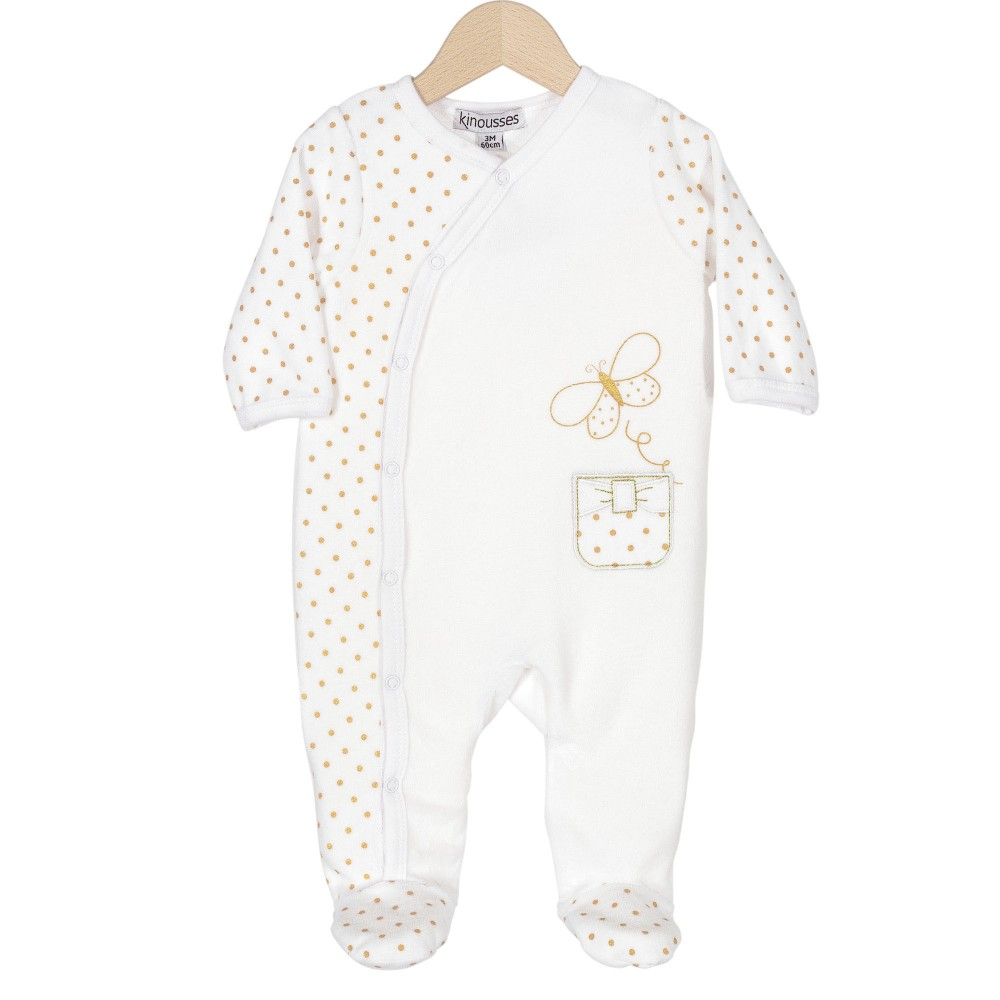 Birth girl pyjamas – Small butterfly