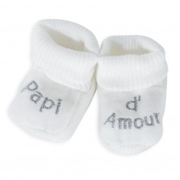 1 pair of white slippers – Papi d'amour