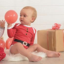 """Set di due body neonato """"Babbo Natale"""""""