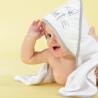 Cape de bain bébé + gant - Petit chat