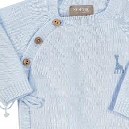 Brassière bébé coton - Sophie la Girafe® bleue
