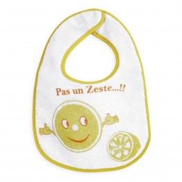Set of 7 printed bibs with plastic lining
