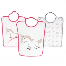 Large plasticized bib - Lili' Corne (set of 3)
