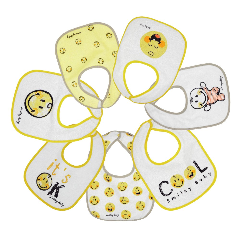 Bavoir bébé - SMILEY BABY® (lot de 7)