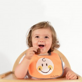 Lot de 7 bavoirs Smiley Baby® - orange
