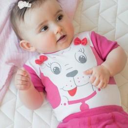 Completo bebè femminuccia - estate - 3 pezzi