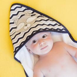 Sortie de bain bébé avec son gant - Miko & Malone