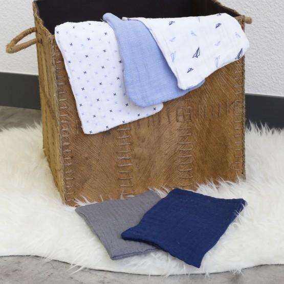 Set of 5 diaper gloves - blue
