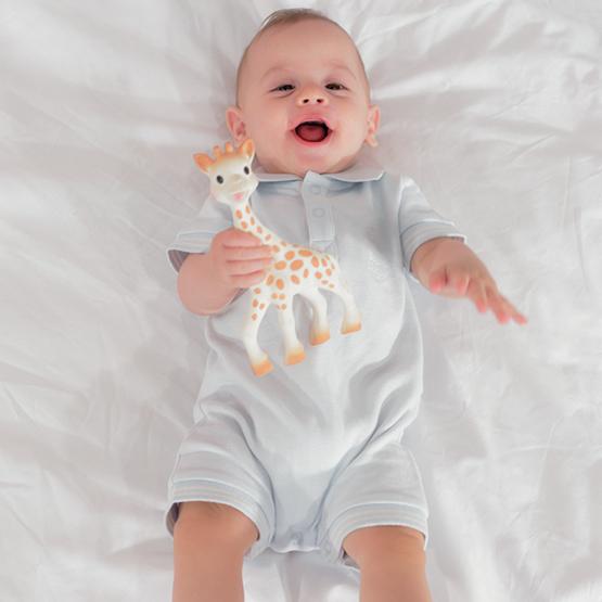 Combishort bébé garçon - maille piquée Sophie la Girafe®