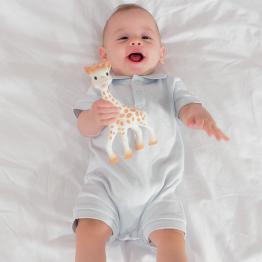 Baby boy jumpsuit - Sophie la Girafe® pique knit