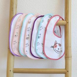 Baby bibs - Little Minou (set of 7)