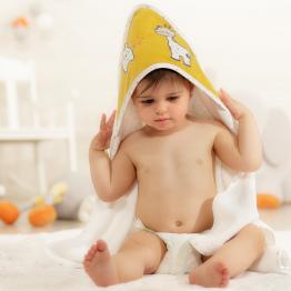 """Accappatoio neonato - con guanto da bagno """"Melle Uche"""""""